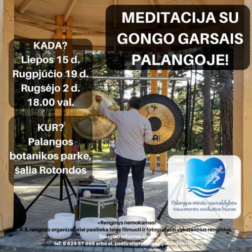 Birutės parke – meditacija su gongo garsais