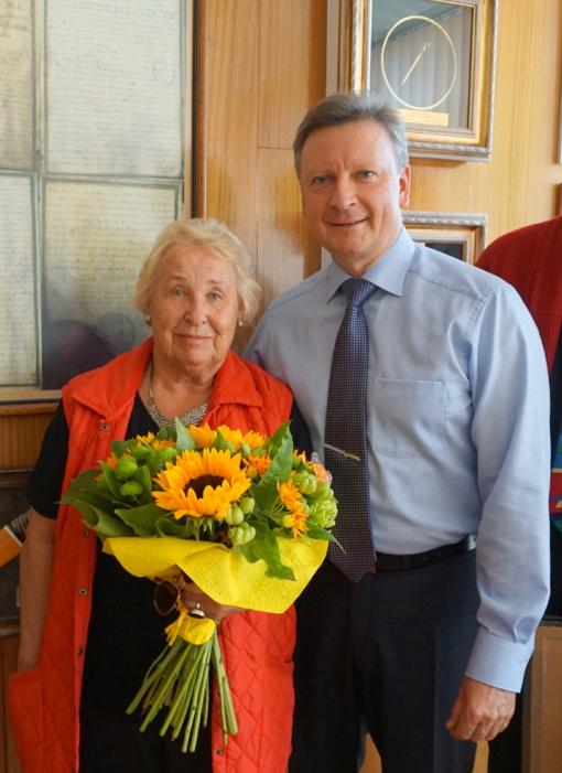 Viešėjo Plungės ir Mendeno draugystės ryšių pradininkė, Plungės Garbės pilietė Kristina Šrioder