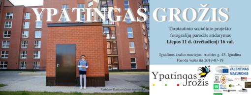 """Tarptautinio socialinio projekto """"Ypatingas grožis"""" fotografijų paroda Ignalinoje"""