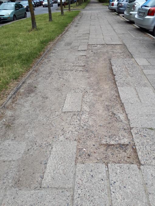 Netvarkomi pietinio pėsčiųjų takai