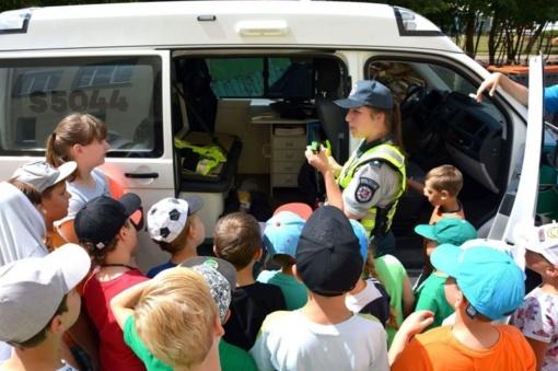 Stovyklautojams - apie policininko profesiją, eismo taisykles ir prastą savijautą apsvaigus nuo alkoholio