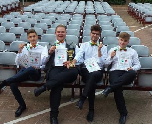 Saksofonininkų iš Radviliškio pergalės Italijoje