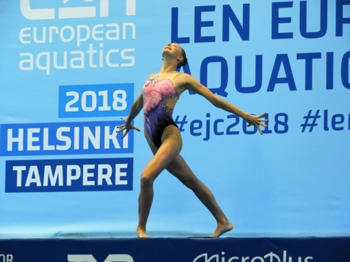 Šiaulietė dalyvavo Europos jaunimo dailiojo plaukimo čempionate