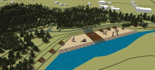 Parengti A. Dauguviečio parko kraštovaizdžio formavimo ir ekologinės būklės gerinimo projekto sprendimai