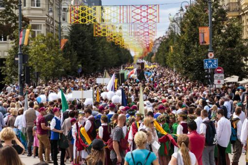Šimtmečio dainų šventės dalyvių eitynės (FOTO)