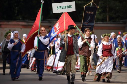 Dainų šventės eisenoje dalyvavo ir Širvintų rajono kolektyvai (fotogalerija)