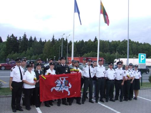 Lietuvos himnas aidėjo ir muitinės postuose
