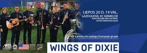 """JAV karinių oro pajėgų Europoje grupė """"Wings of Dixie"""" atkeliauja į Lazdijus"""