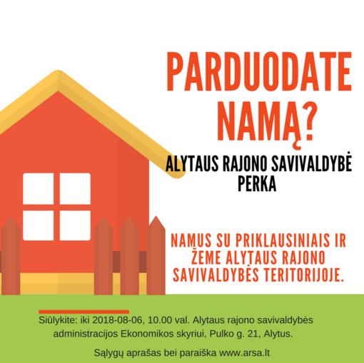Alytaus rajono savivaldybė perka namus