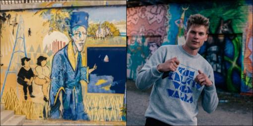 Zarasuose ir Visagine baltų kultūra veržiasi alternatyviomis sienų tapybos ir subkultūros formomis