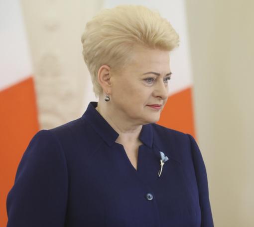Prezidentė paragino stiprinti taiką Europoje