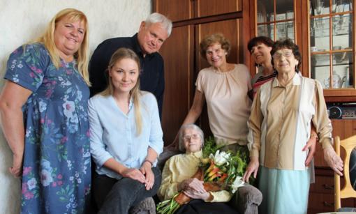 Šimtametei klaipėdietei – sveikinimai