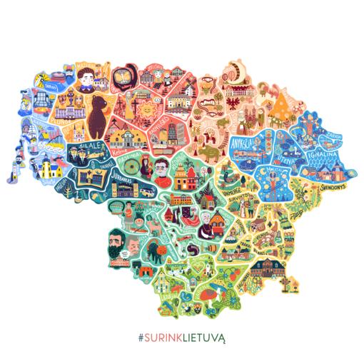 Naujas projektas ,,Surink Lietuvą'' į vieną visumą sujungė visas 60 savivaldybių