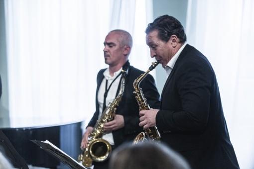 Šiauliečius džiugino saksofono virtuozai iš Vokietijos