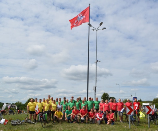 Istoriniame Merkinės miestelyje iškelta Vyčio vėliava