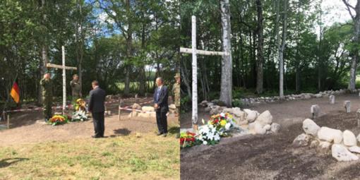 Sutvarkyti Pirmojo pasaulinio karo vokiečių karių kapai