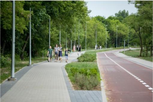 Nuo Vilniuje prašniokštusios liūties labiausiai nukentėjo dviračių takas Antakalnyje