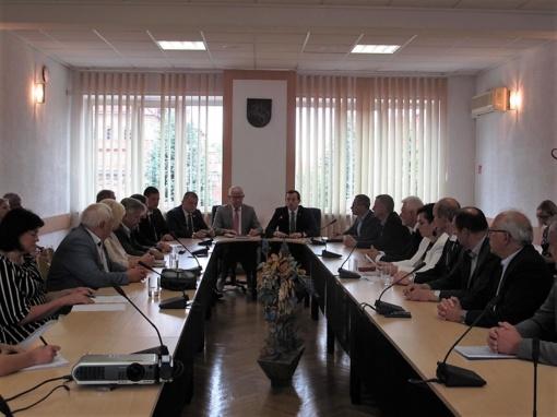 Vilkaviškio rajono savivaldybės vadovai dalyvavo susitikime su LR Ūkio ministru