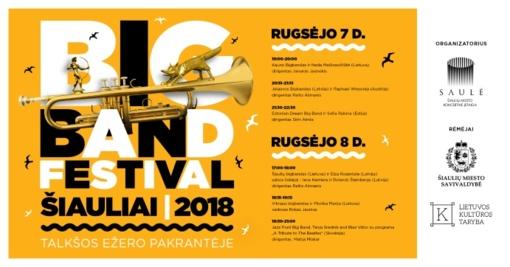 """Ruduo Šiauliuose startuos su """"Big Band Festival Šiauliai 2018"""""""