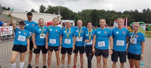 Trakų rajono bėgikai taip pat paminėjo Lietuvos šimtmetį