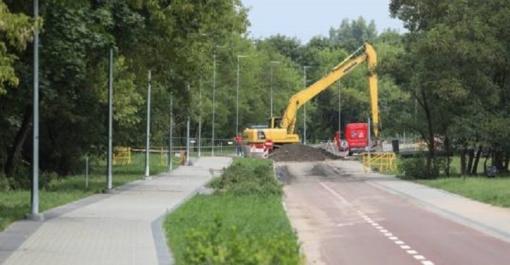 Savivaldybė: liūties žala sostinės dviračių takams bus likviduota per dvi savaites