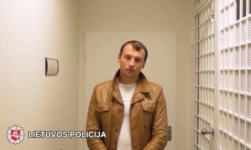 Vilniuje sulaikytas įžūlus plėšikas (vaizdo įrašas)