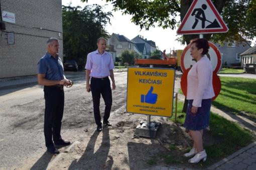 Vilkaviškio miesto tvarkymo darbai – pačiame įkarštyje