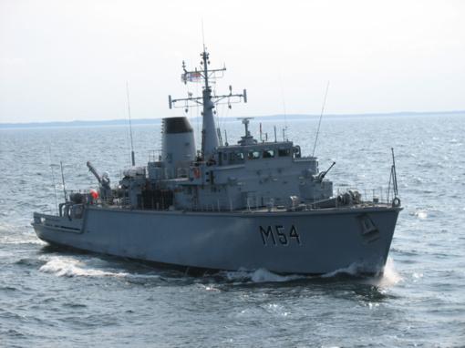 """Puikiai įvertintas Lietuvos karo laivas ,,Kuršis"""" prisijungia prie NATO"""