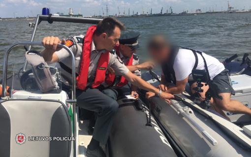 Pareigūnų patikrinimai rodo, kad reikia stebėti ir laivavedžių blaivumą