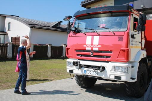 Lazdijų rajono savivaldybėje – naujas gaisrinis automobilis