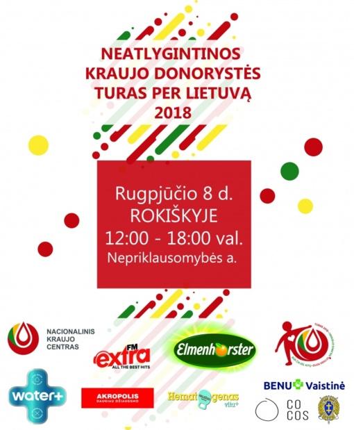 Kviečiame dalyvauti kraujo donorystės turo per Lietuvą renginyje Rokiškyje!