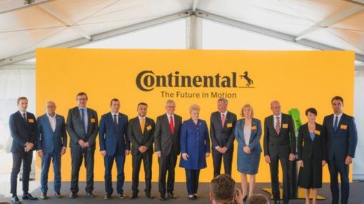 """""""Continental"""" pradeda pirmosios gamyklos Lietuvoje statybas"""