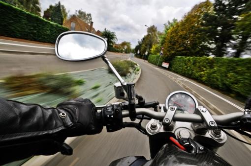 Saločiuose sužeistas motociklininkas