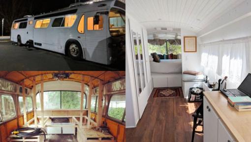 Po trejų metų senas autobusas virto namais