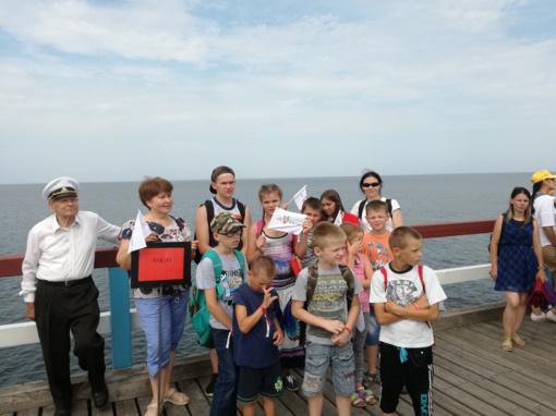 """Socialinėje akcijoje """"Pasveikink jūrą Palangoje"""" dalyvavo Šakių rajono vaikai"""