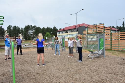 Naujose treniruoklių aikštelėse bus nemokamai mokoma taisyklingai sportuoti