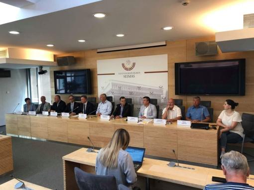 Šakių rajono meras dalyvavo spaudos konferencijoje — apie pertvarkas ligoninėse