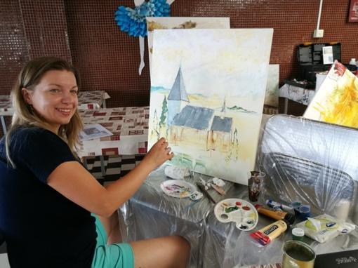 Ignalinietės savo tapybą pristatė Čekijoje