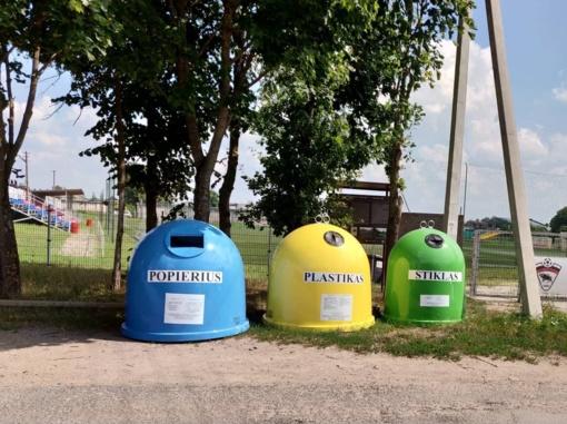 Pagėgiuose – 20 antžeminių konteinerių aikštelių