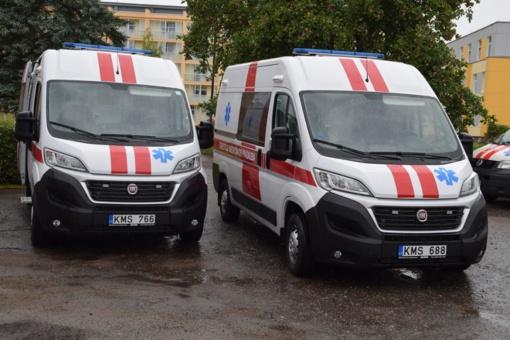 Mažeikių greitosios medicinos pagalbos centrui – trys nauji automobiliai