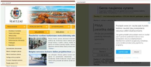 Imituodami Šiaulių miesto savivaldybės svetainę ieško naudos?