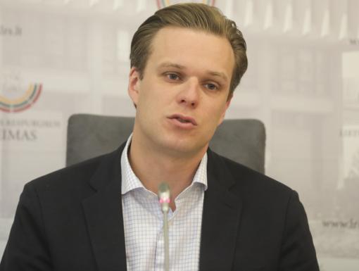 G. Landsbergis: už mokesčių reformos slepiasi verslo atstovai