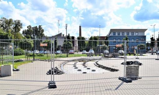 Fontano įrengimo darbai Prienuose bus tęsiami