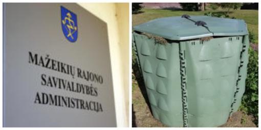 Nemokamai dalinami žaliųjų atliekų kompostavimo konteineriai