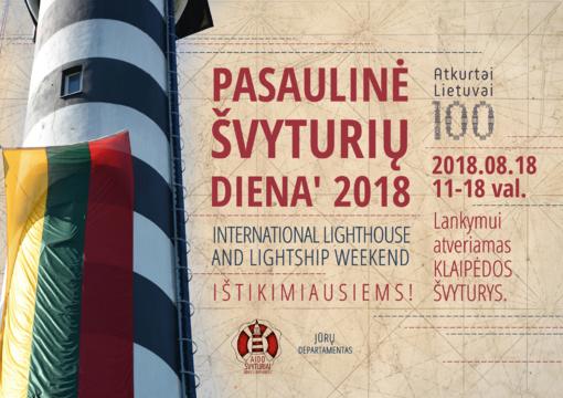 Pasaulinę švyturių dieną Baltijos jūrą, Kuršių neriją ir marias galima apžvelgti iš Klaipėdos švyturio