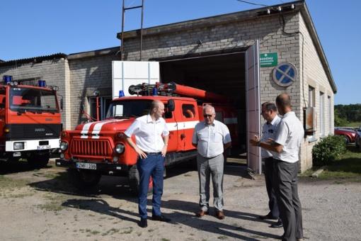 Sodėnų komandos ugniagesiams – naujas automobilis