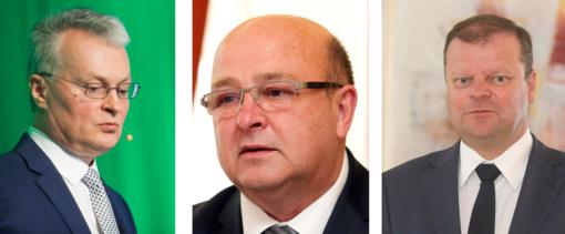 Norimų prezidentų trejetuke – G.Nausėda, V. Matijošaitis, S.Skvernelis