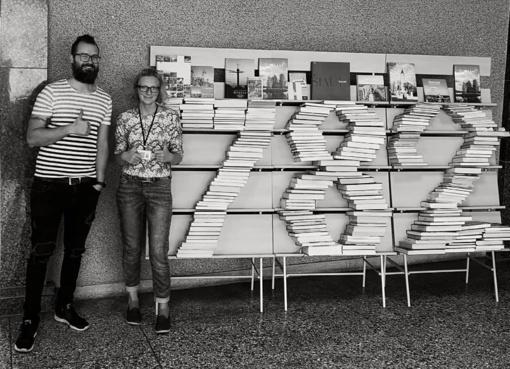 Šiaulių gimtadieniui skirta knygų instaliacija