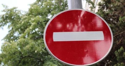 Vairuotojų dėmesiui dėl eismo apribojimų Liudvinavo miestelyje