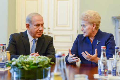 D. Grybauskaitė: Lietuva suinteresuota stiprinti politinius ir ekonominius ryšius su Izraeliu